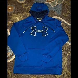 Under Armour STORM hoodie Large LG men blue